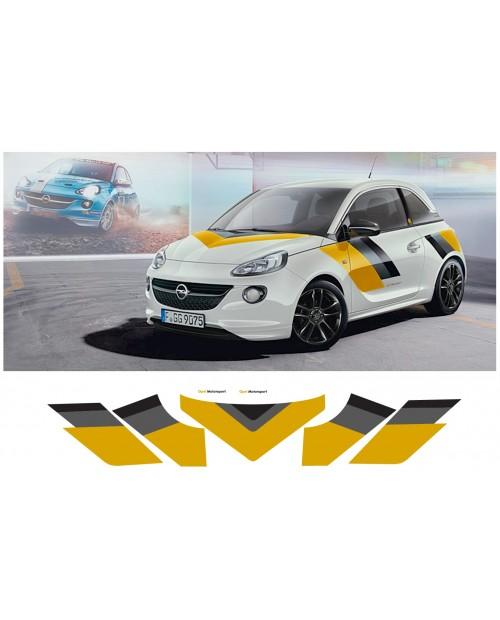 Aufkleber passend für Opel Adam Motorsport komplet Satz 5Stk.