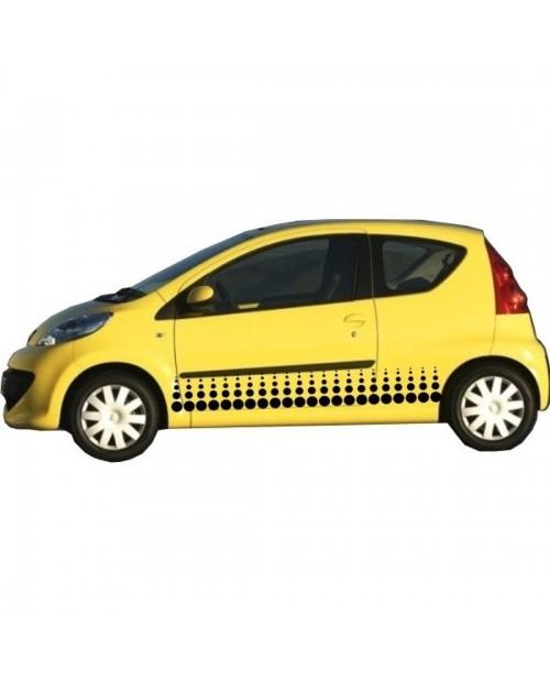 Aufkleber passend für Peugeot 107 Seitenaufkleber Aufkleber Satz