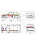 Aufkleber passend für Peugeot Talbot Samba Rally Aufkleber Satz 41 Stk. 1983 San Remo Rallye