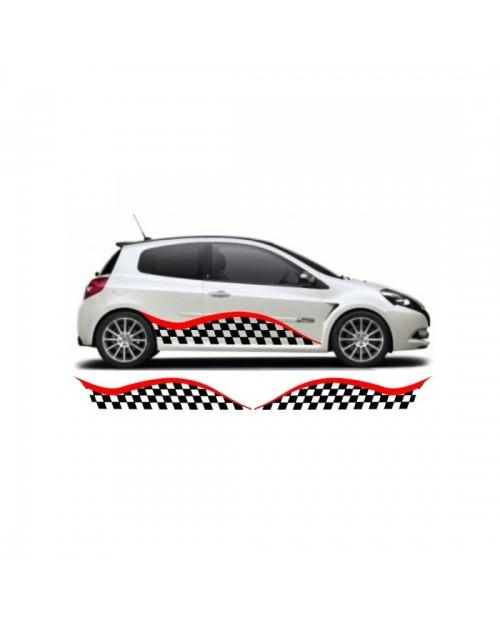 Aufkleber passend für Renault Clio custom Seitenaufkleber Aufkleber Satz
