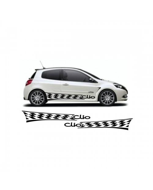 Aufkleber passend für Renault Clio Seitenaufkleber Aufkleber Satz