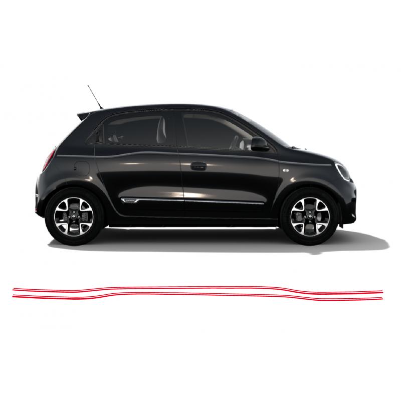 Aufkleber passend für Renault Twingo double Stripe Seitenaufkleber Aufkleber Satz