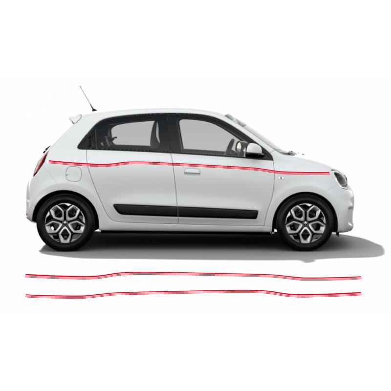 Aufkleber passend für Renault Twingo triple Stripe Seitenaufkleber Aufkleber Satz