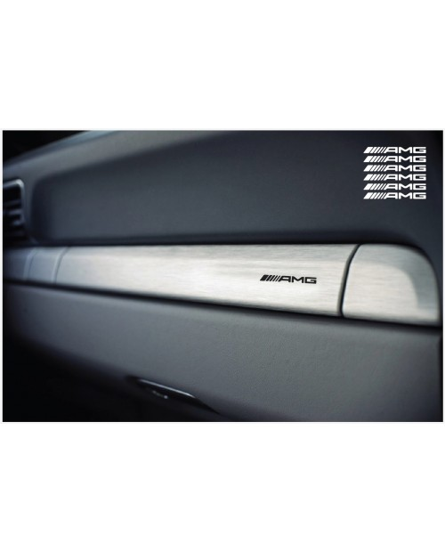 Decal to fit AMG dashboard decal 40mm 6pcs, set