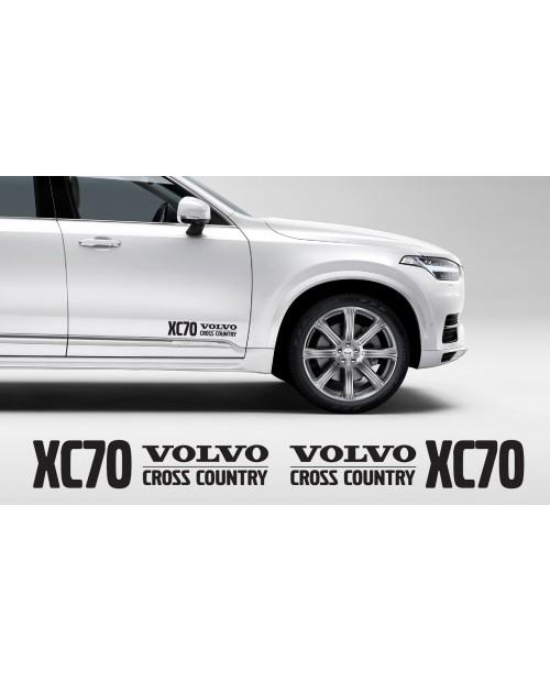 Aufkleber passend für Volvo XC70 Cross Country Aufkleber 400mm