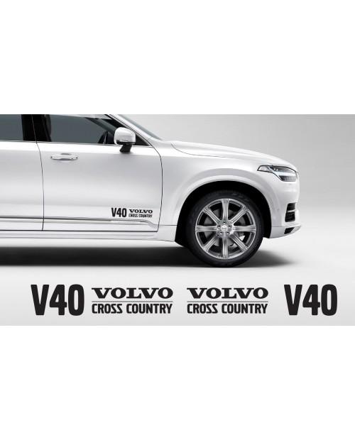 Aufkleber passend für Volvo V40 Cross Country Aufkleber 400mm