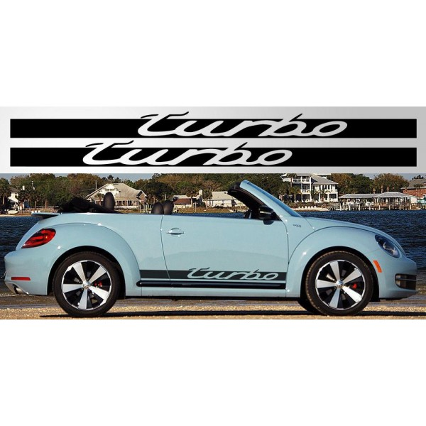 Volkswagen Beetle Turbo Price: Decal To Fit Volkswagen Beetle / Golf Turbo Decal Pair