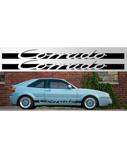 Aufkleber passend für Volkswagen Corrado Vinyl Decal Pair Version 2