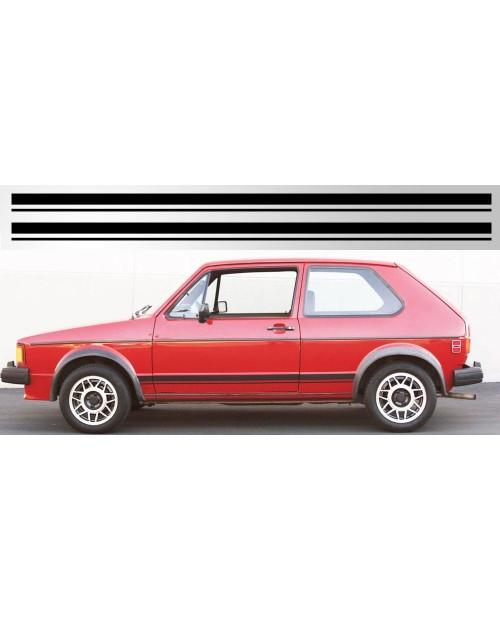 Aufkleber passend für Volkswagen Golf / Rabbit GTI Rocker Stripe