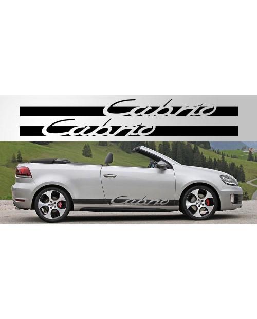 Aufkleber passend für Volkswagen Golf Cabrio Decal Pair