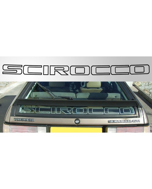 Aufkleber passend für Volkswagen Scirocco MK2 Rear Window Vinyl Decal