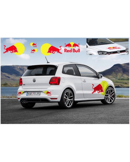 Aufkleber passend für VW Polo R WRC RB Seitenaufkleber Haubenaufkleber Heckaufkleber Aufkleber Komplet Satz