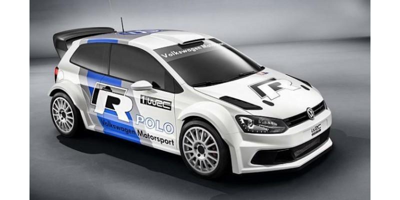 Aufkleber passend für VW Polo R WRC style Satz Aufkleber Satz (Grau-Blau-Schwarz-Weiß)