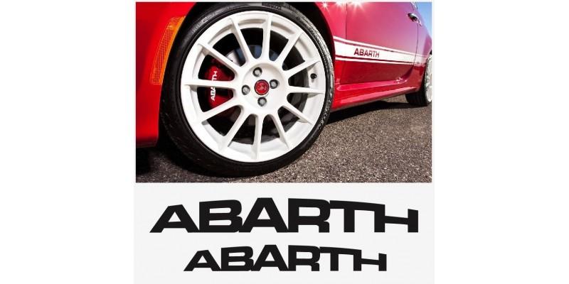 Aufkleber passend für Abarth Bremssattel Aufkleber Satz 4Stk. 70mm + 90mm