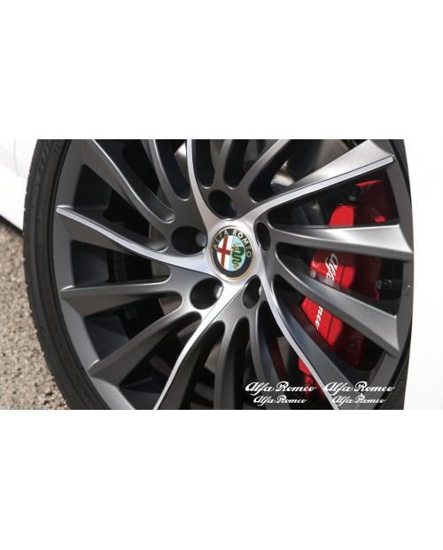 Aufkleber passend für Alfa Romeo Bremssattel Felgen Spiegel Fenster Aufkleber 70mm + 90mm