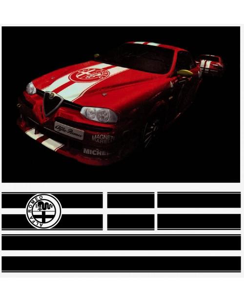 Aufkleber passend für Alfa Romeo Aufkleber Rennstreiffen komplet Satz