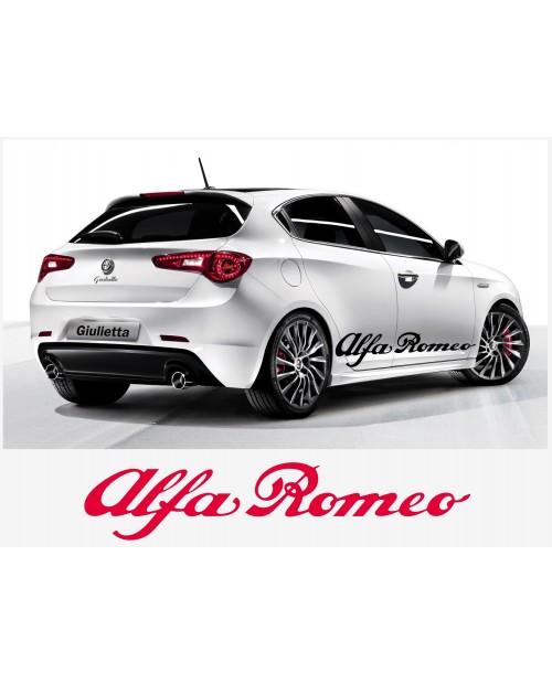 Aufkleber passend für Alfa Romeo Aufkleber Seitenaufkleber Satz 150 cm