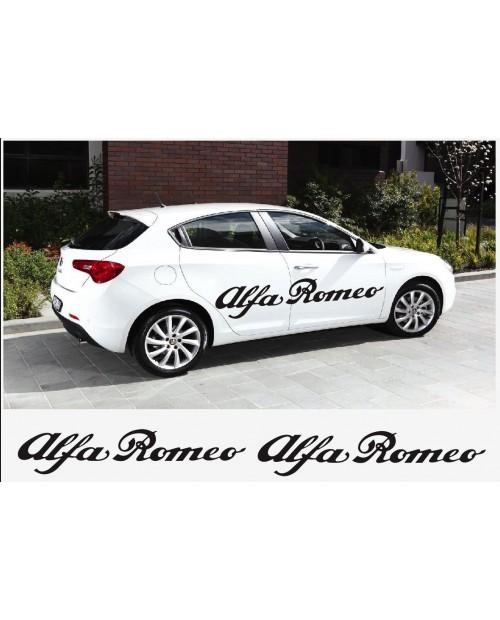 Aufkleber passend für Alfa Romeo Aufkleber Seitenaufkleber Satz 2 Stk. L+R 150 cm