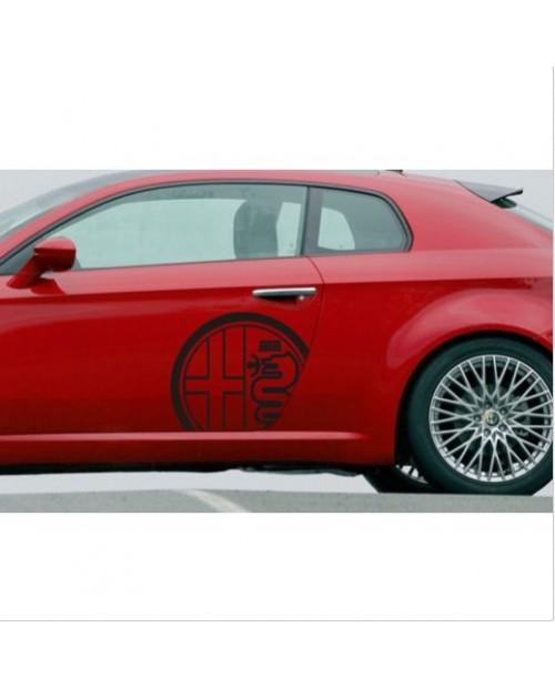 Aufkleber passend für Alfa Romeo Aufkleber Seitenaufkleber Satz 2 Stk. L+R 58 cm