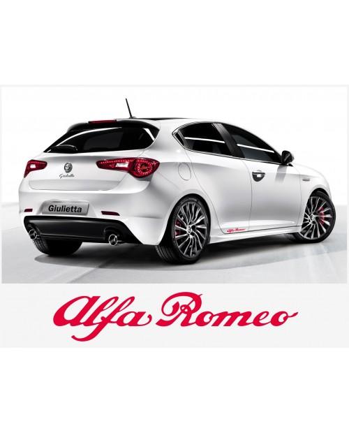 Aufkleber passend für Alfa Romeo Aufkleber Seitenaufkleber Satz 20 cm