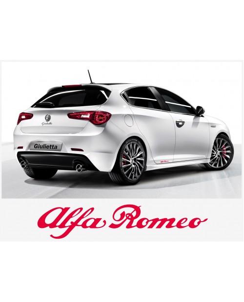 Aufkleber passend für Alfa Romeo Aufkleber Seitenaufkleber Satz 30 cm