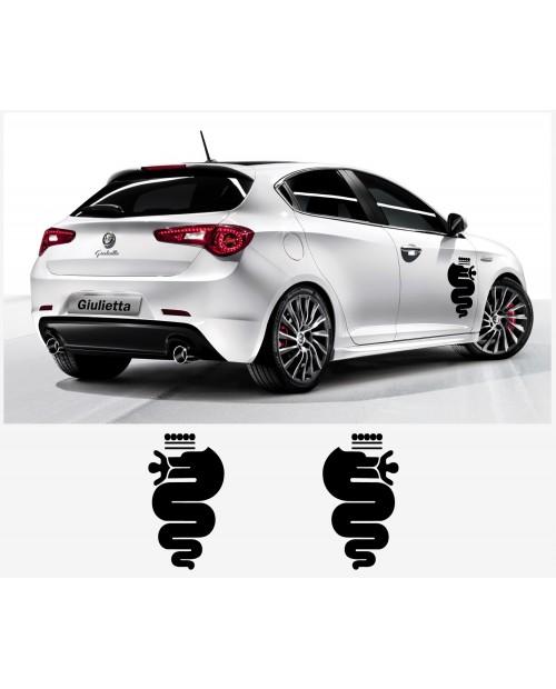 Aufkleber passend für Alfa Romeo Aufkleber Seitenaufkleber Satz 60 cm