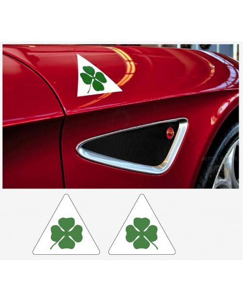 Aufkleber passend für Alfa Romeo Aufkleber Seitenaufkleber Satz Quadrifoglio Varde 2 Stk. L+R 12 cm