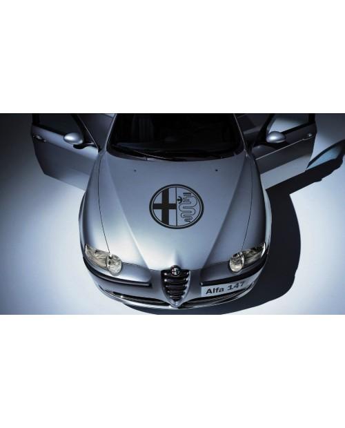 Aufkleber passend für Alfa Romeo Aufkleber Haubenaufkleber 58 cm