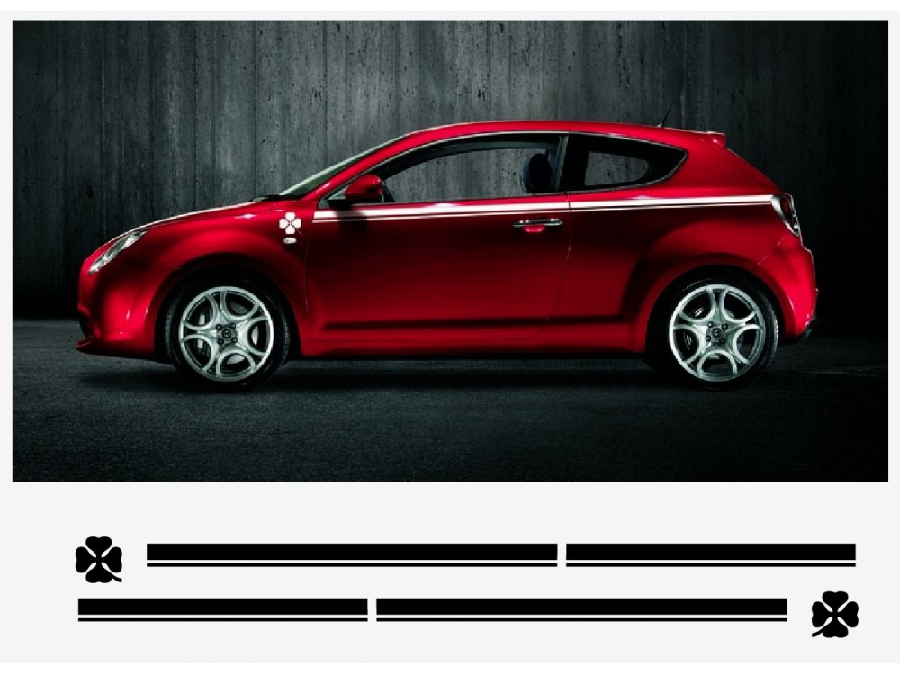Decal To Fit Alfa Romeo Mito Decal Side Decal Set 2 Pcs L R
