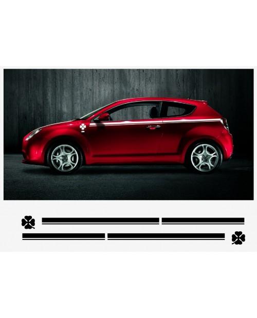 Aufkleber passend für Alfa Romeo Mito Aufkleber Seitenaufkleber Satz  2 Stk. L+R