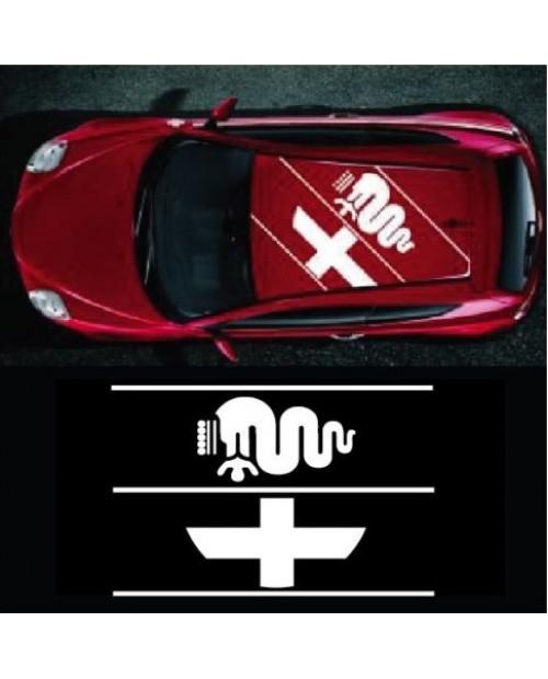 Aufkleber passend für Alfa Romeo Schlange Biscione Aufkleber Dachaufkleber