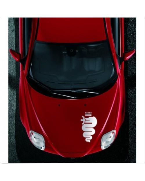 Aufkleber passend für Alfa Romeo Schlange Biscione Aufkleber Haubenaufkleber 48cm