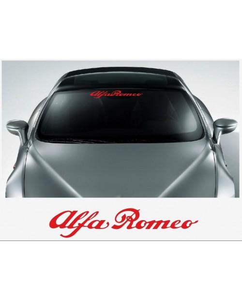 Aufkleber passend für Alfa Romeo Frontscheiben Sonnenblendstreifen Aufkleber 500mm/1400mm