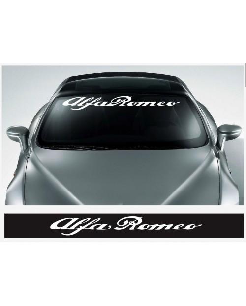 Aufkleber passend für Alfa Romeo Frontscheiben Sonnenblendstreifen Aufkleber