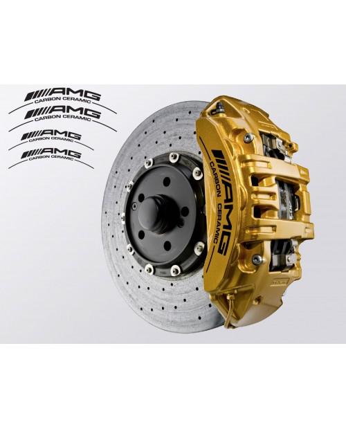 Aufkleber passend für AMG Carbon Ceramic Bremssattel Aufkleber 4Stk. Satz 190mm 150mm