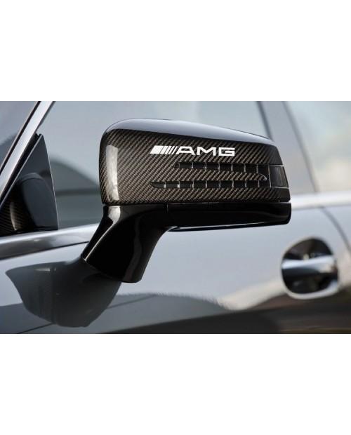 Aufkleber passend für AMG Mercedes Benz Außenspiegel Aufkleber 2 Stk. 12cm Emblem Logo C55 CLK E55