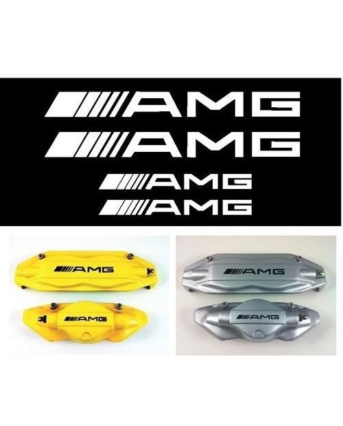 Aufkleber passend für AMG Mercedes Bremssattel Aufkleber - 4 Stück im Set 87mm + 107mm