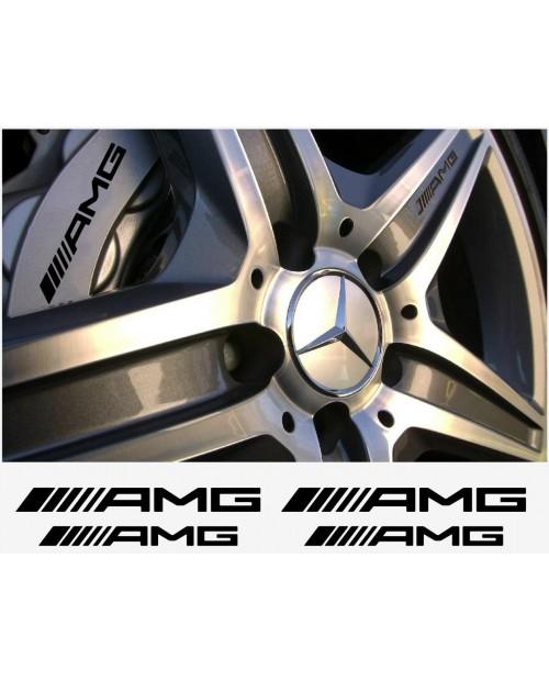 Aufkleber passend für AMG Mercedes Bremssattel Aufkleber - 4 Stück im Set - neu logo