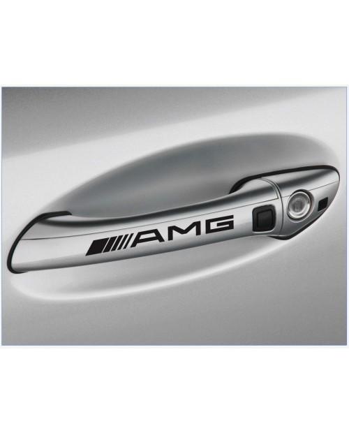 Aufkleber passend für AMG Mercedes Türgriff Aufkleber 4 Stk. 120mm