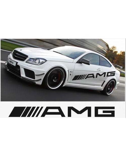 Aufkleber passend für AMG Mercedes Seitenaufkleber 2 Stk. 1500mm