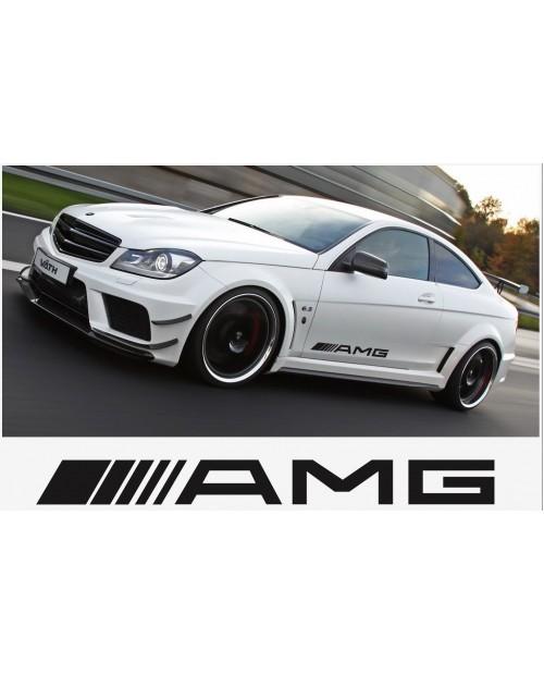 Aufkleber passend für AMG Mercedes Seitenaufkleber 2 Stk. 500mm