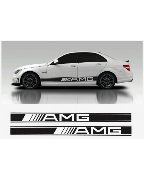 Aufkleber passend für AMG Mercedes Seitenaufkleber 2 Stk. Satz 2150mm