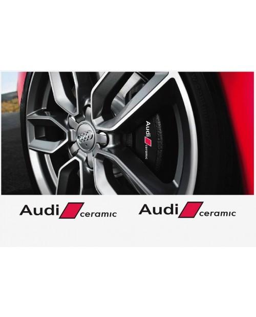 Aufkleber passend für Audi Bremssattel Aufkleber Audi Ceramic 2Stk. Satz 80mm