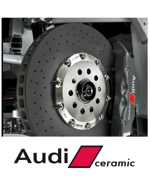 Aufkleber passend für Audi Bremssattel Aufkleber Audi Ceramic 4Stk. Satz 120mm + 100mm