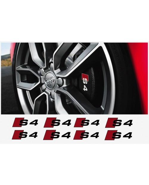 Aufkleber passend für Audi Bremssattel Aufkleber Audi S4 8 Stk. Satz 50mm