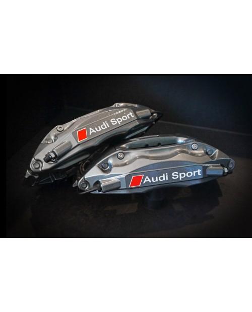 Aufkleber passend für Audi Bremssattel Aufkleber Audi Sport  4Stk. Satz 80mm + 70mm