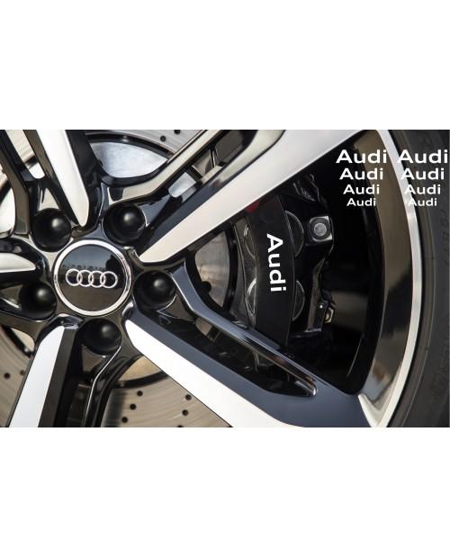 Aufkleber passend für Audi Bremssattel Spiegel Fenster Aufkleber 63mm – 36mm
