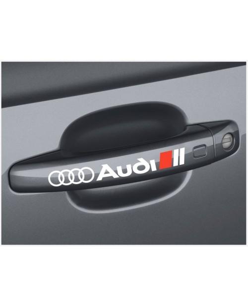 Aufkleber passend für Audi Türgriff Aufkleber