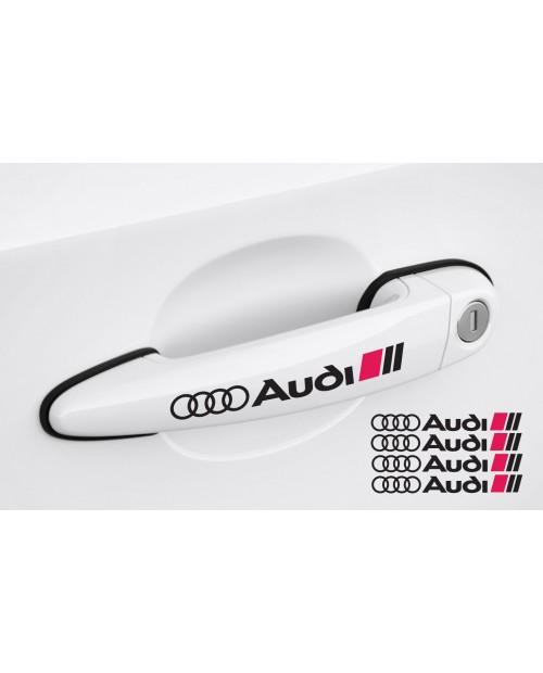 Aufkleber passend für Audi Türgriff Aufkleber Satz 4Stk, 120mm