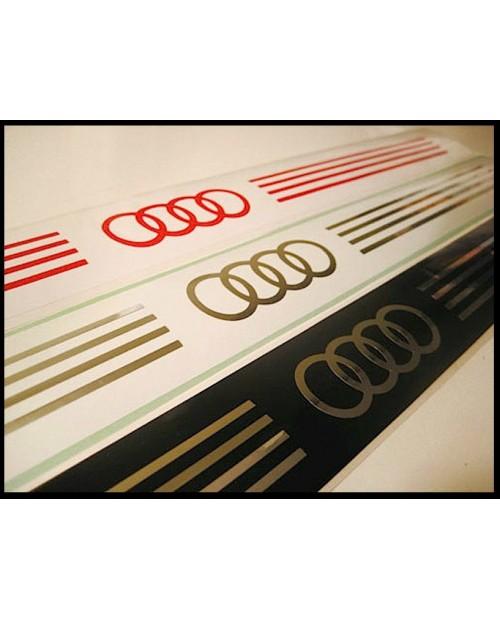 Aufkleber passend für Audi Einstiegleisten Leisten Aufkleber Satz